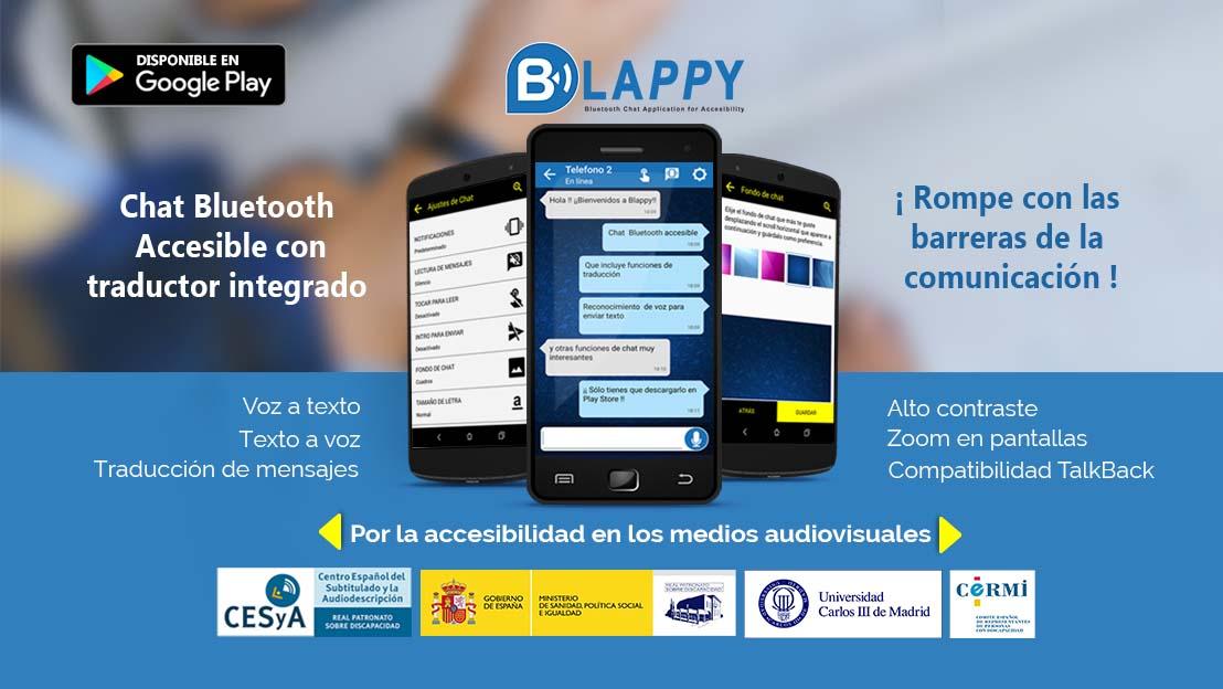 Blappy – Bluetooth Chat Accesible » Aplicación Bluetooth